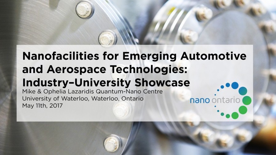 NDS is attending Nano Ontario Industry-University Showcase